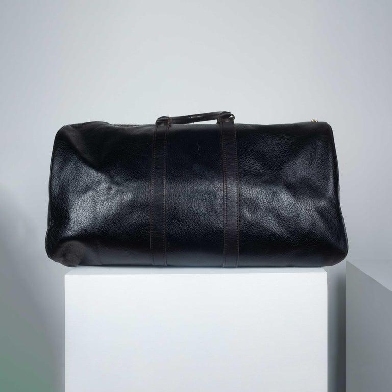Comme des Garçons Large Black Leather Boston Bag 5