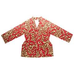 Comme des Garcons leopard print felt 2D coat, fw 2012