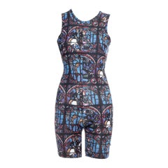Comme des Garçons lycra stained glass printed romper, ss 1991