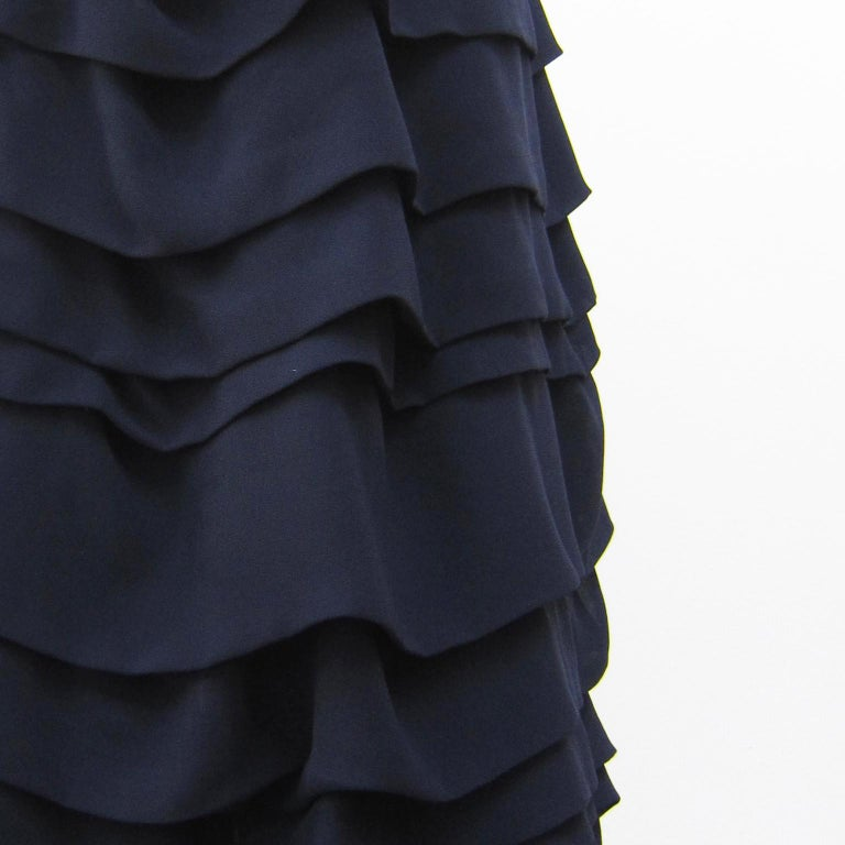 Comme des Garcons Navy Ruffle Layered Skirt AD 2004 In Good Condition For Sale In Berlin, DE