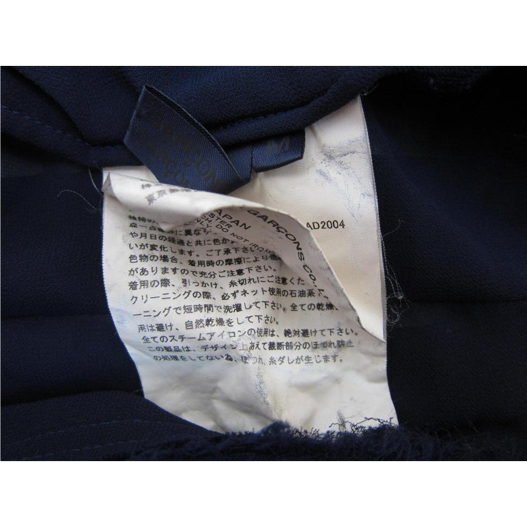 Women's Comme des Garcons Navy Ruffle Layered Skirt AD 2004 For Sale