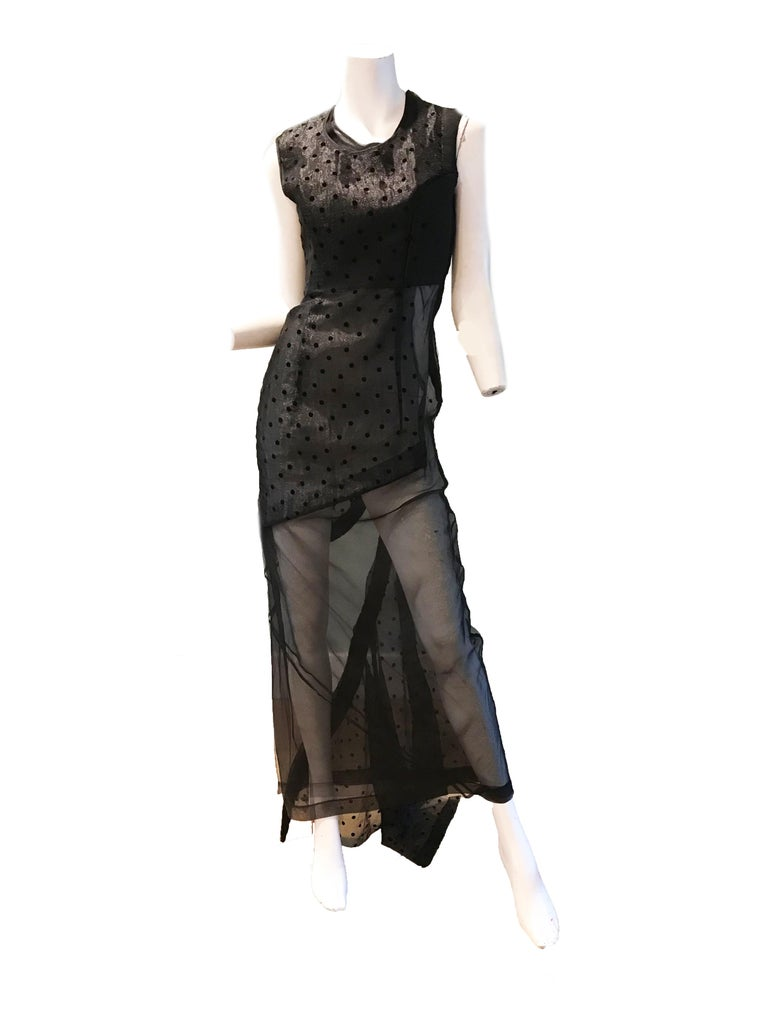 Comme des Garcons black net evening gown . Size S Condition: Good, tear at hem. See photos