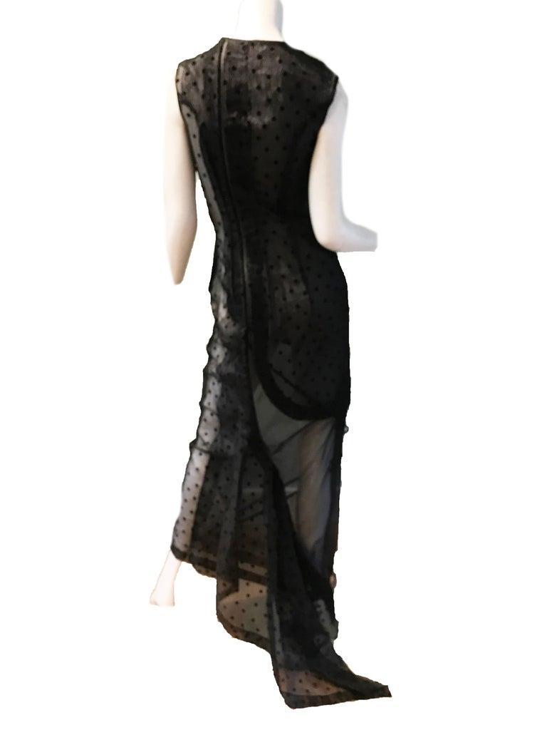 Black Comme des Garcons Net Evening Gown  For Sale