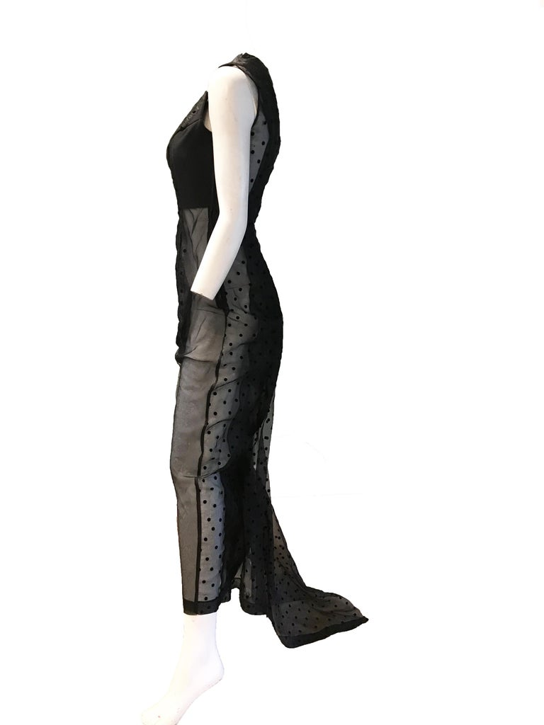 Comme des Garcons Net Evening Gown  In Good Condition For Sale In Austin, TX