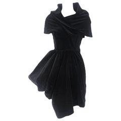 Comme des Garcons Noir Dior Style Cotton Velvet Dress