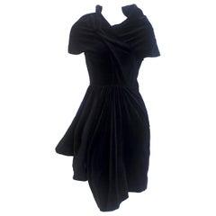 Comme des Garcons Noir Vintage  SS 1989 Dior Esque Cotton Velvet Dress