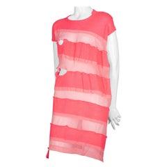 Comme des Garçons Pink Asymmetric Sweater Dress, 2013