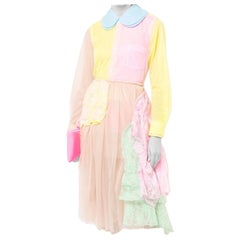 Comme Des Garcons Pink Yellow & Green Lace & Tulle Skirt  - Size Estimated M
