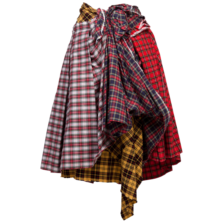 Comme des Garcons Plaid Skirt AD 2005 MET