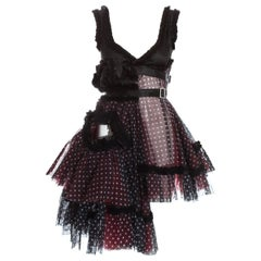 Comme des Garcons polka dot tulle deconstructed dress, fw 2008