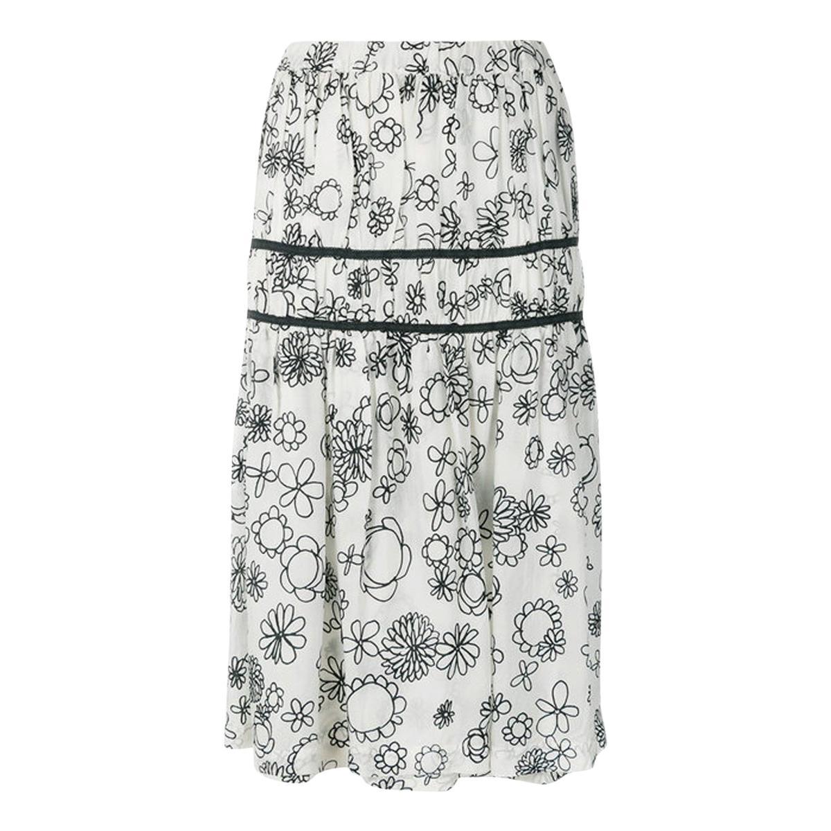 Comme des Garcons Printed Fluid Skirt