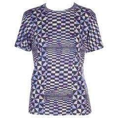 Comme des Garçons Purple Geometric Wool T-shirt, 2000