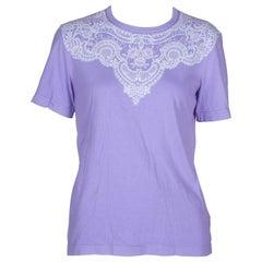 Comme des Garçons Purple T-shirt with Lace Motif, 2006