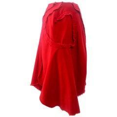 Comme des Garcons Raw Edge Velvet Skirt