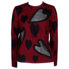 Comme des Garçons Red Long Sleeve with Chiffon Hearts, 2008