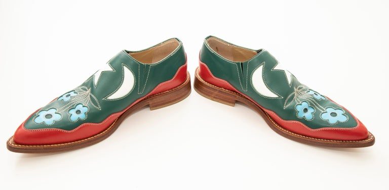 Comme des Garcons Runway Leather Loafers with Stacked Heels , Fall 1998 For Sale 2