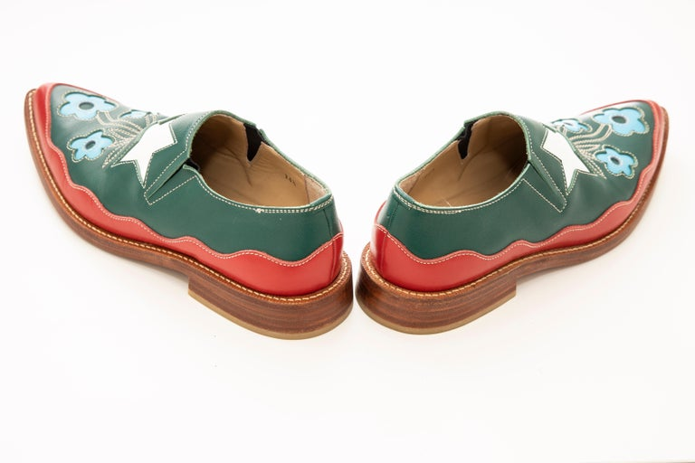 Comme des Garcons Runway Leather Loafers with Stacked Heels , Fall 1998 For Sale 3