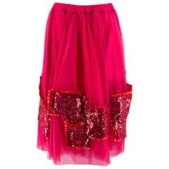 Comme Des Garçons sequinned tulle midi skirt - Size S