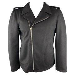 COMME des GARCONS SHIRT L Black Wool / Nylon Biker Jacket