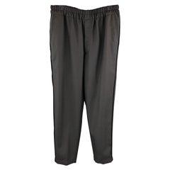 COMME des GARCONS SHIRT Size M Black Wool Blend Twill Elastic Waist Pants