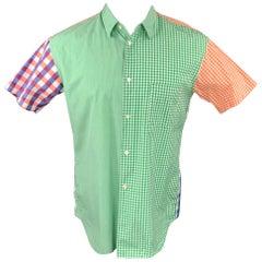 COMME des GARCONS SHIRT Size M Multi-Color Checkered Cotton Short Sleeve Shirt