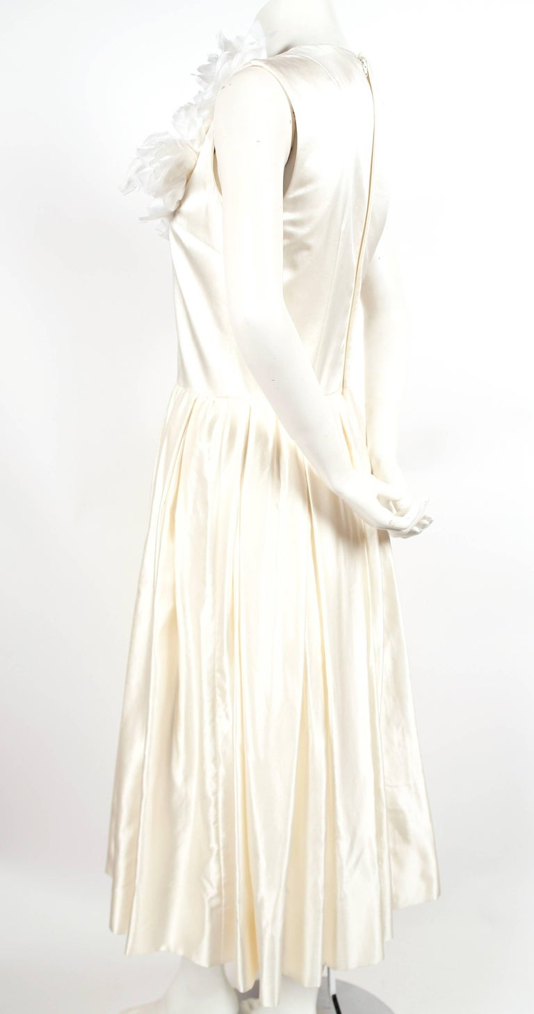COMME DES GARCONS silk wedding gown with flower detail For Sale at ...