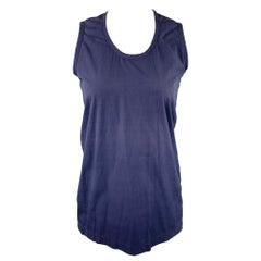 COMME des GARCONS Size M Blue Cotton Tank Top