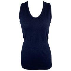 COMME des GARCONS Size M Navy Wool / Nylon Knit Tank Top