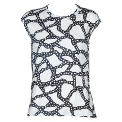 Comme des Garçons Sleeveless Top in Black and White, 2010