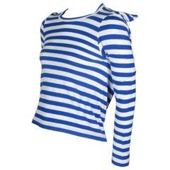 Comme des Garçons Square Navy Blue Striped Shirt, 2007