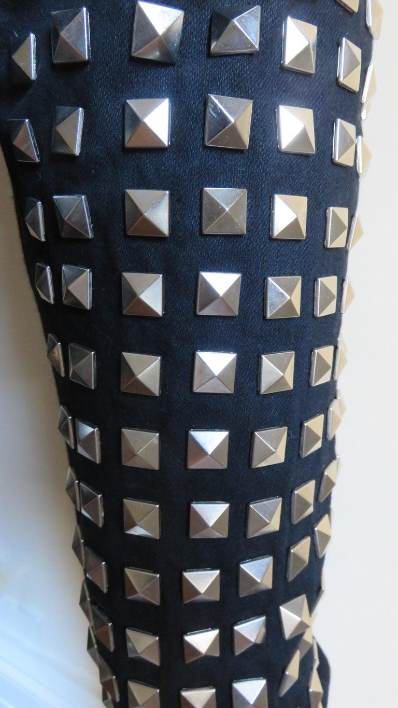 Comme des Garcons Studded Black Pants For Sale 1