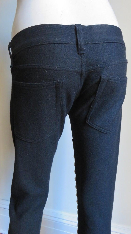 Comme des Garcons Studded Black Pants For Sale 2