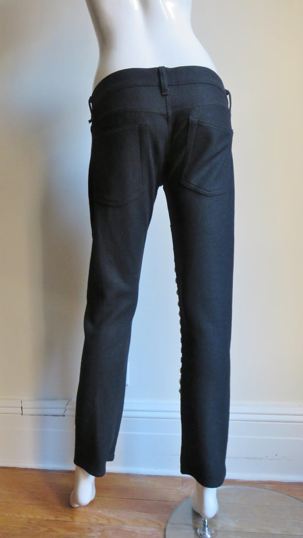 Comme des Garcons Studded Black Pants For Sale 3