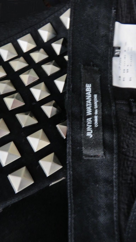 Comme des Garcons Studded Black Pants For Sale 4
