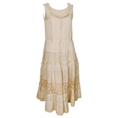 Comme des Garcons Tao Pearl Beaded Mixed Fabric Dress AD2006