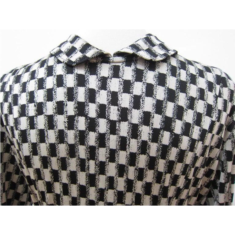 Women's Comme des Garcons Tricot Black White Dress Coat Early 1980s  For Sale