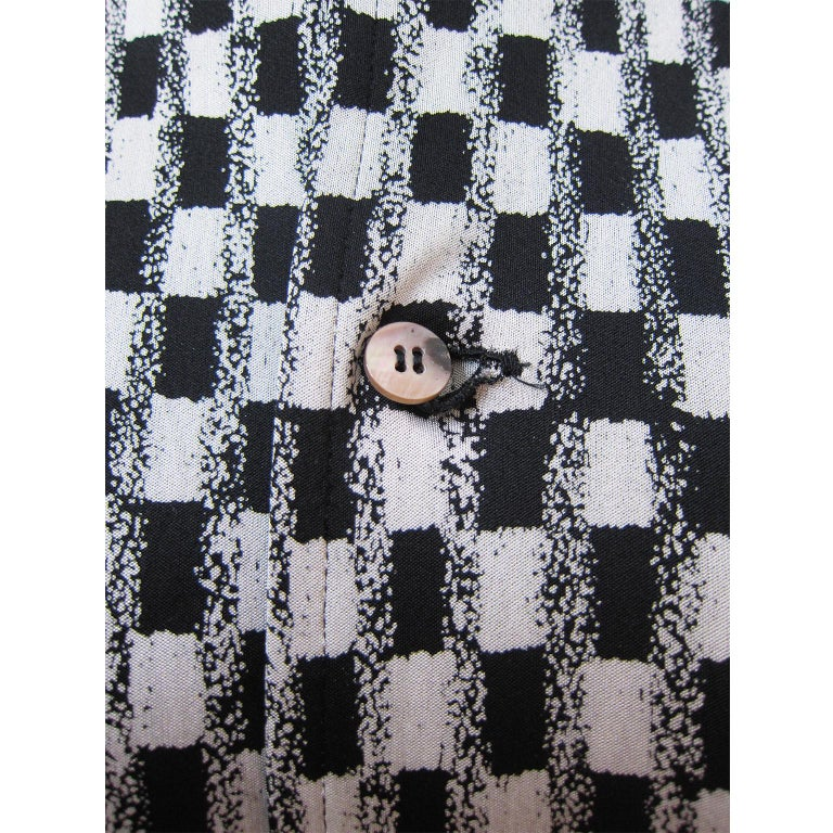 Comme des Garcons Tricot Black White Dress Coat Early 1980s  For Sale 1