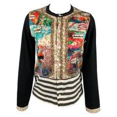 COMME des GARCONS TRICOT Size S Black Cotton Buttoned Cardigan