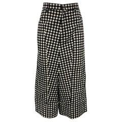 COMME des GARCONS TRICOT Size S Black & White Cotton Casual Pants