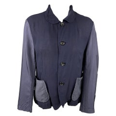 COMME des GARCONS TRICOT Size S Navy Cupro Wool Jacket