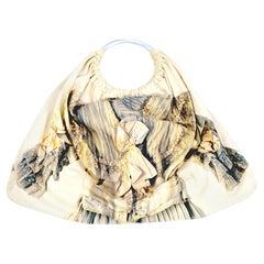 """Comme des Garcons vintage 2005 """"broken brides"""" collection cotton printed handbag"""