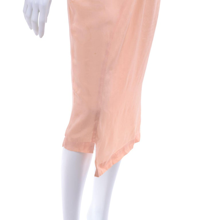 Comme des Garçons Vintage Asymmetrical Peach Rayon Skirt In Excellent Condition For Sale In Portland, OR