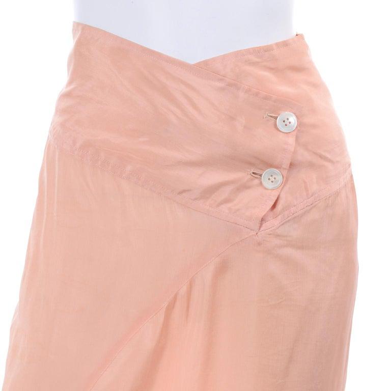 Women's Comme des Garçons Vintage Asymmetrical Peach Rayon Skirt For Sale