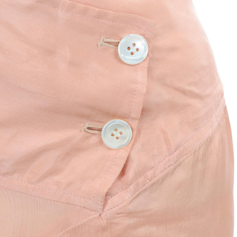 Comme des Garçons Vintage Asymmetrical Peach Rayon Skirt For Sale 1