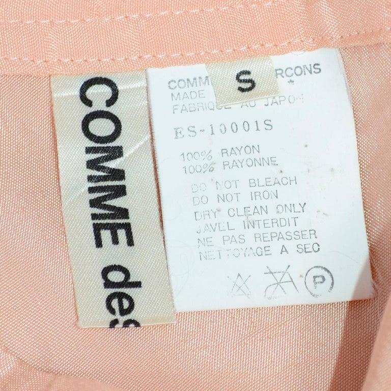 Comme des Garçons Vintage Asymmetrical Peach Rayon Skirt For Sale 2