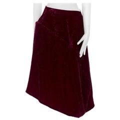 COMME DES GARCONS Vintage AW1996 red floral devore flocked velvet padded skirt