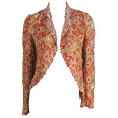 Comme des Garcons Wool Embroidered Lace Jacket 2003 Collection