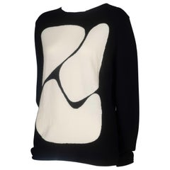 Comme des Garcons Wool Sweater with Abstract Shapes