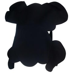 Comme des Garçons Wool Top in Black Cloud Shape, 2012