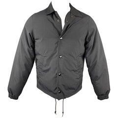 COMME des GARCONS x GANRYU Size M Black Nylon Snaps Jacket